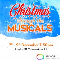 Christmas through the musicals poster small