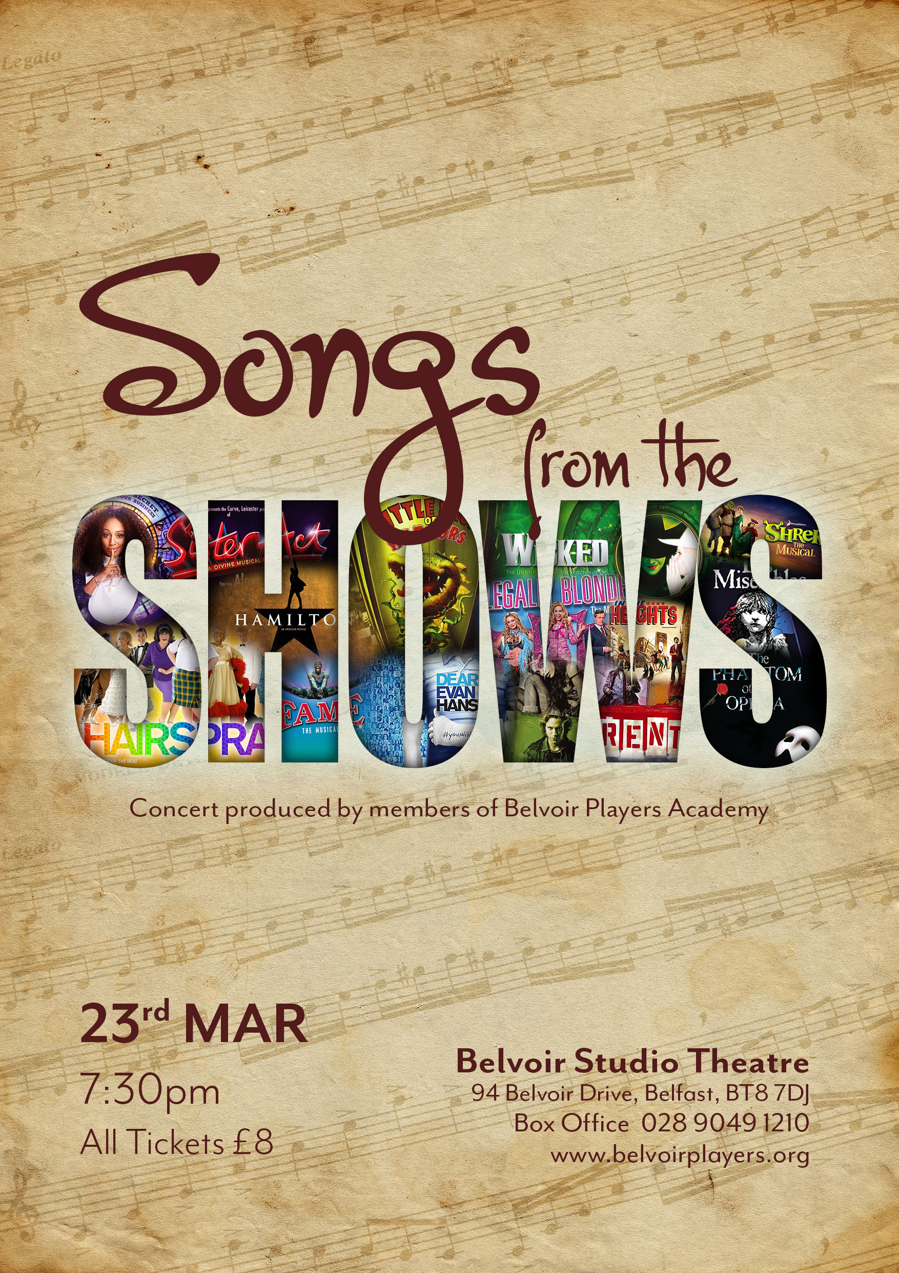 Songs from the shows poster small