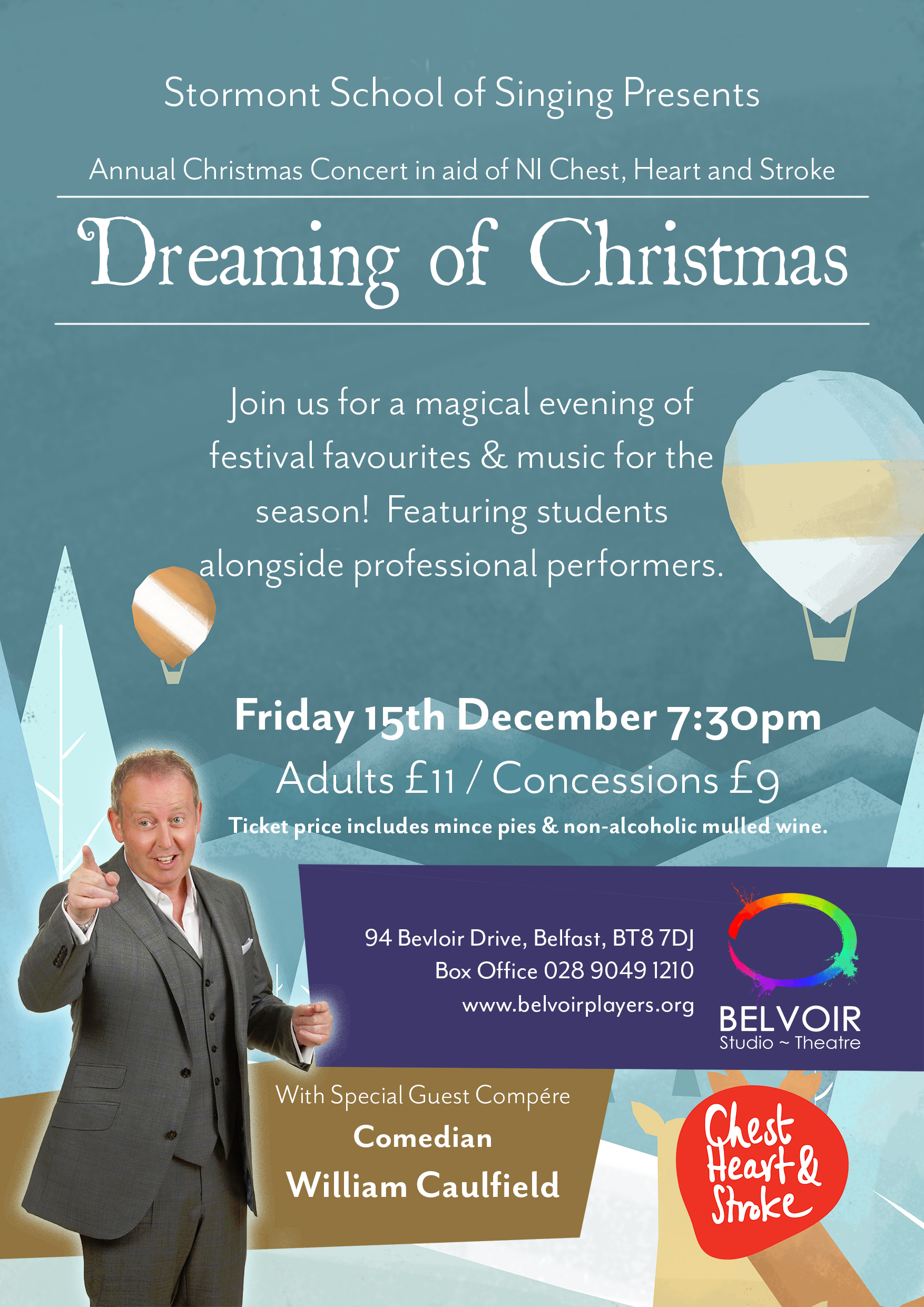 Stormont christmas concert poster small