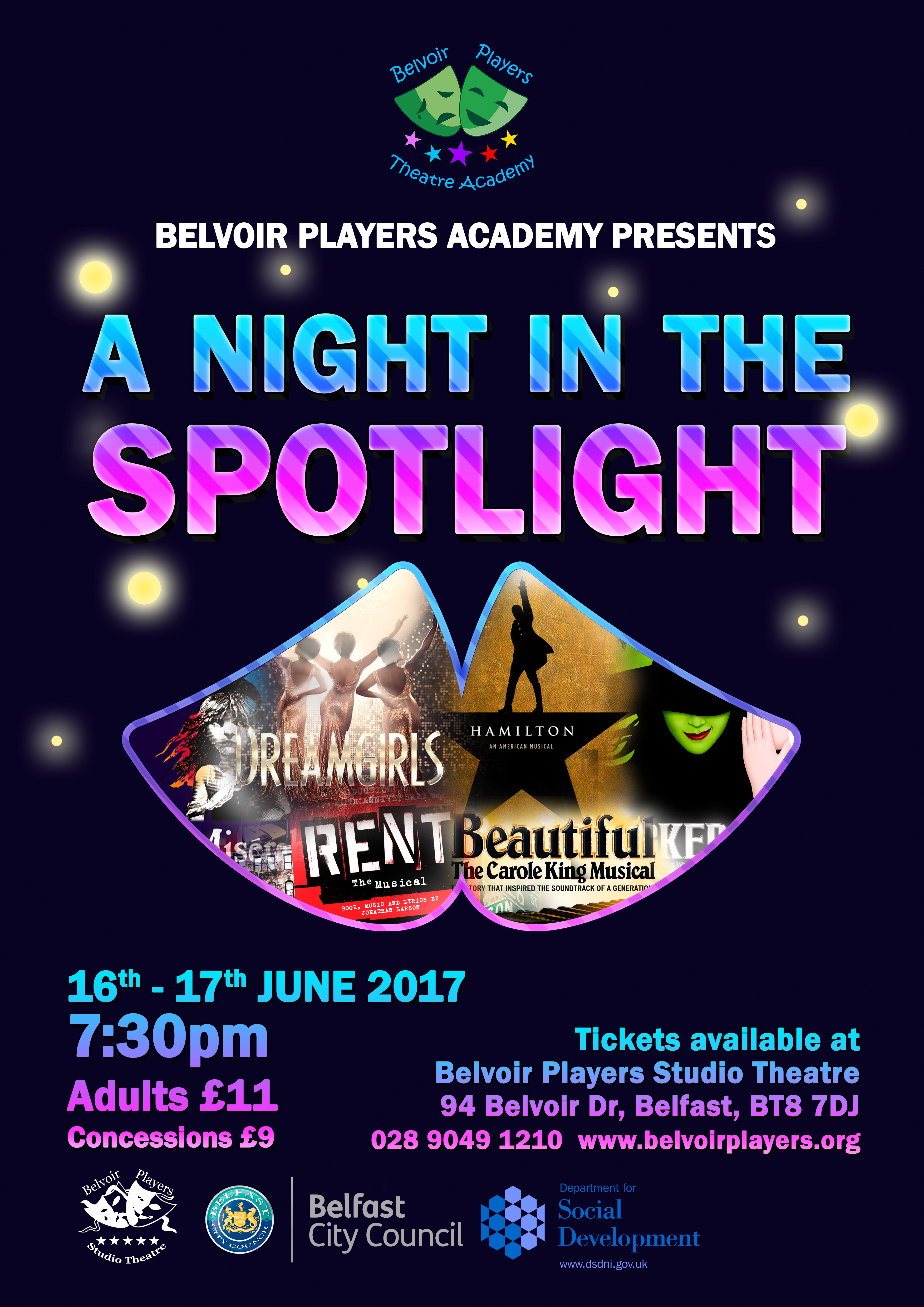 night in the Spotlight poster 2017 A3